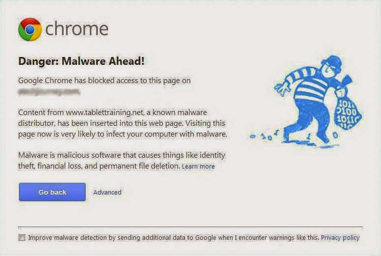Danger Malware Ahead Google Chrome