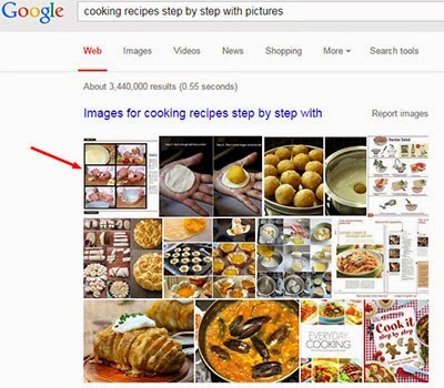 cooking recipes step by step with pictures keyword in google search