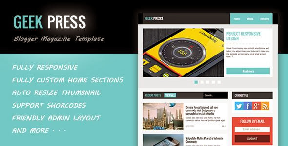 Geek Press - Responsive News & Magazine Template