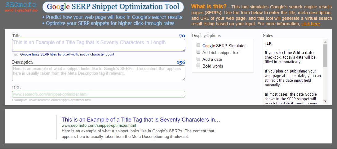 seomofo google serp optimizer