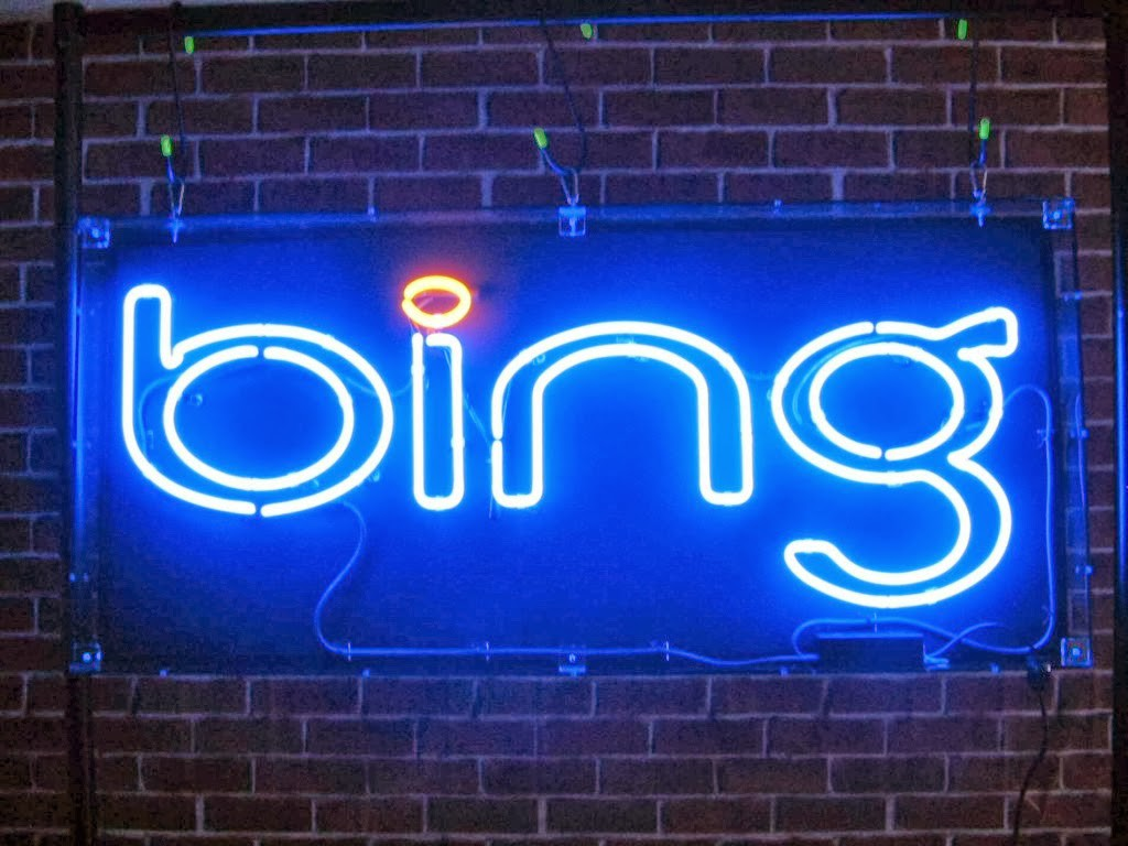 """Bing"" word in a wall"