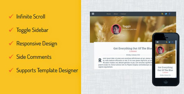 Togglr-Clean-Responsive-Blogger-Template