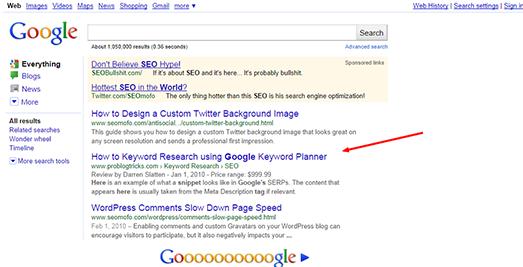 seomofo google snippet optimizing tool