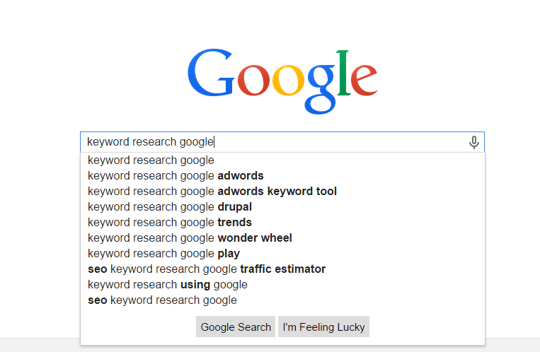 Google - How to Keyword research using Google Keyword Planner tool for SEO