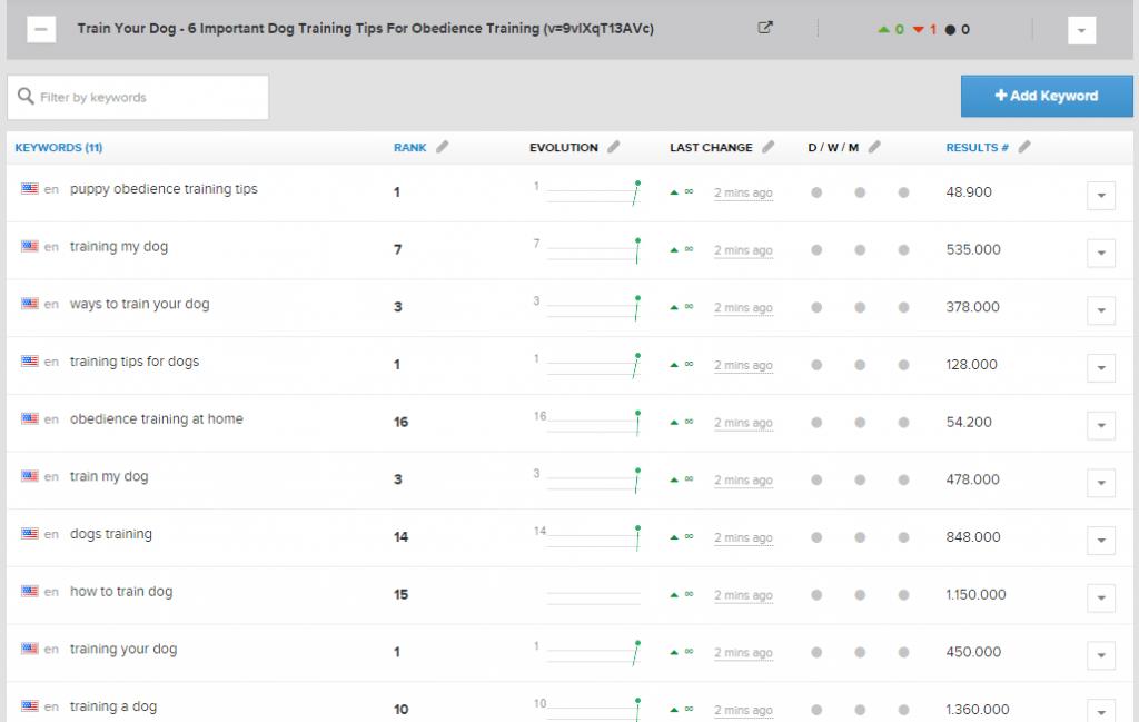 youtube video rank tracker