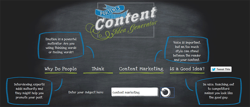 16 excellent ways to generate new blog post ideas for for Portent title generator