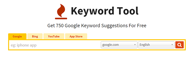 KeywordTool.io - an alternative to Google keyword planner