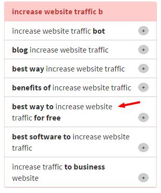 keywordtool.io result