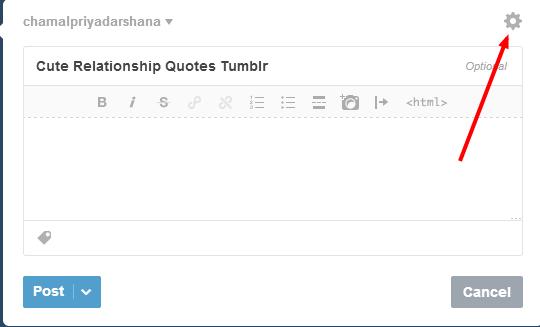Add Custom URL to Tumblr
