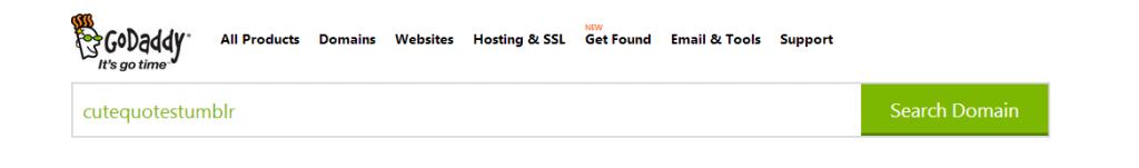 cutequotestumblr domain on godaddy