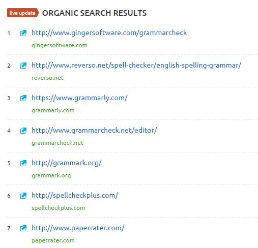 serp live update for keyword phrases semrush
