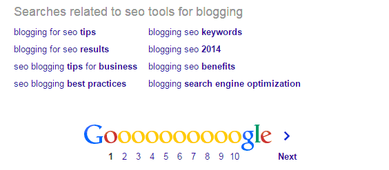 Google.com related keywords