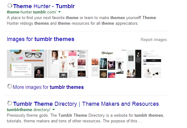 Tumblr Themes: Google search