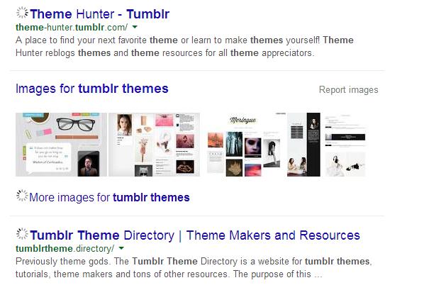 Tumblr Themes: Google search