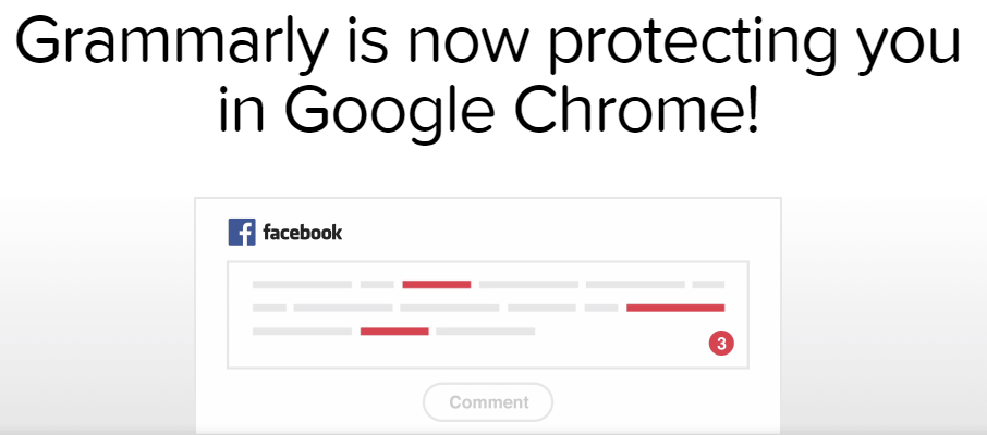 grammarly extension has been installed on Google chrome