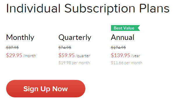 grammarly pricing - individual subscription plans