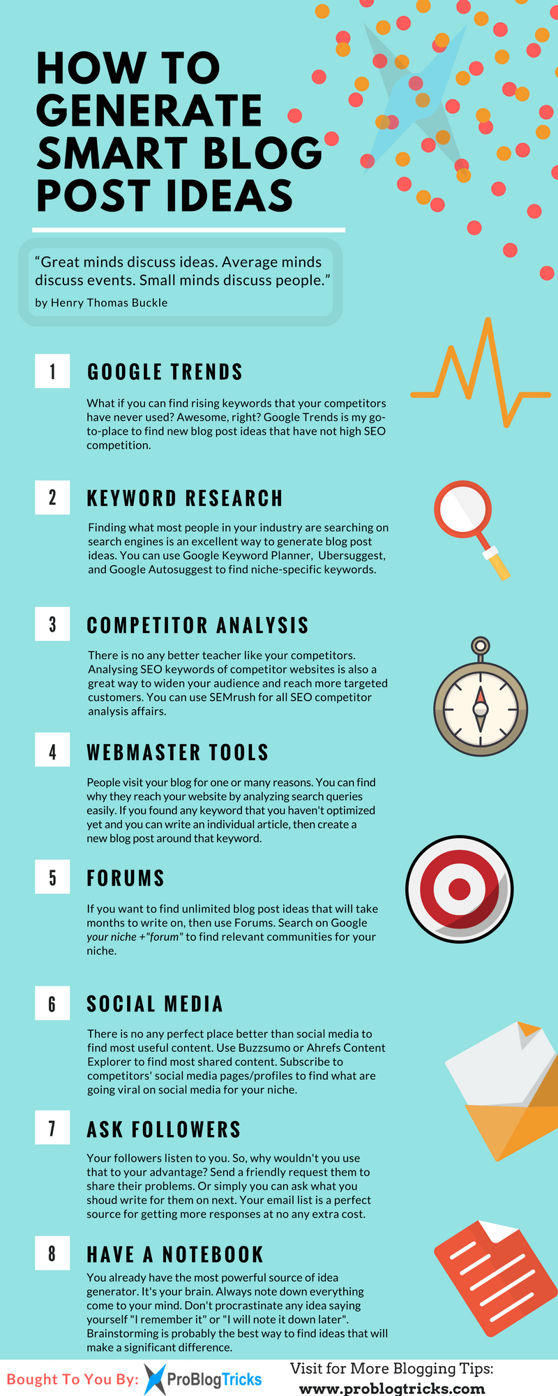 blog post ideas infographic