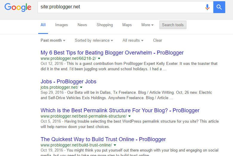 google-index-serp-problogger-net