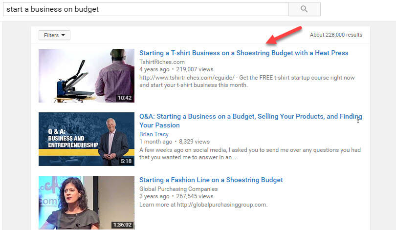 youtube-serp-starting-business-on-budget