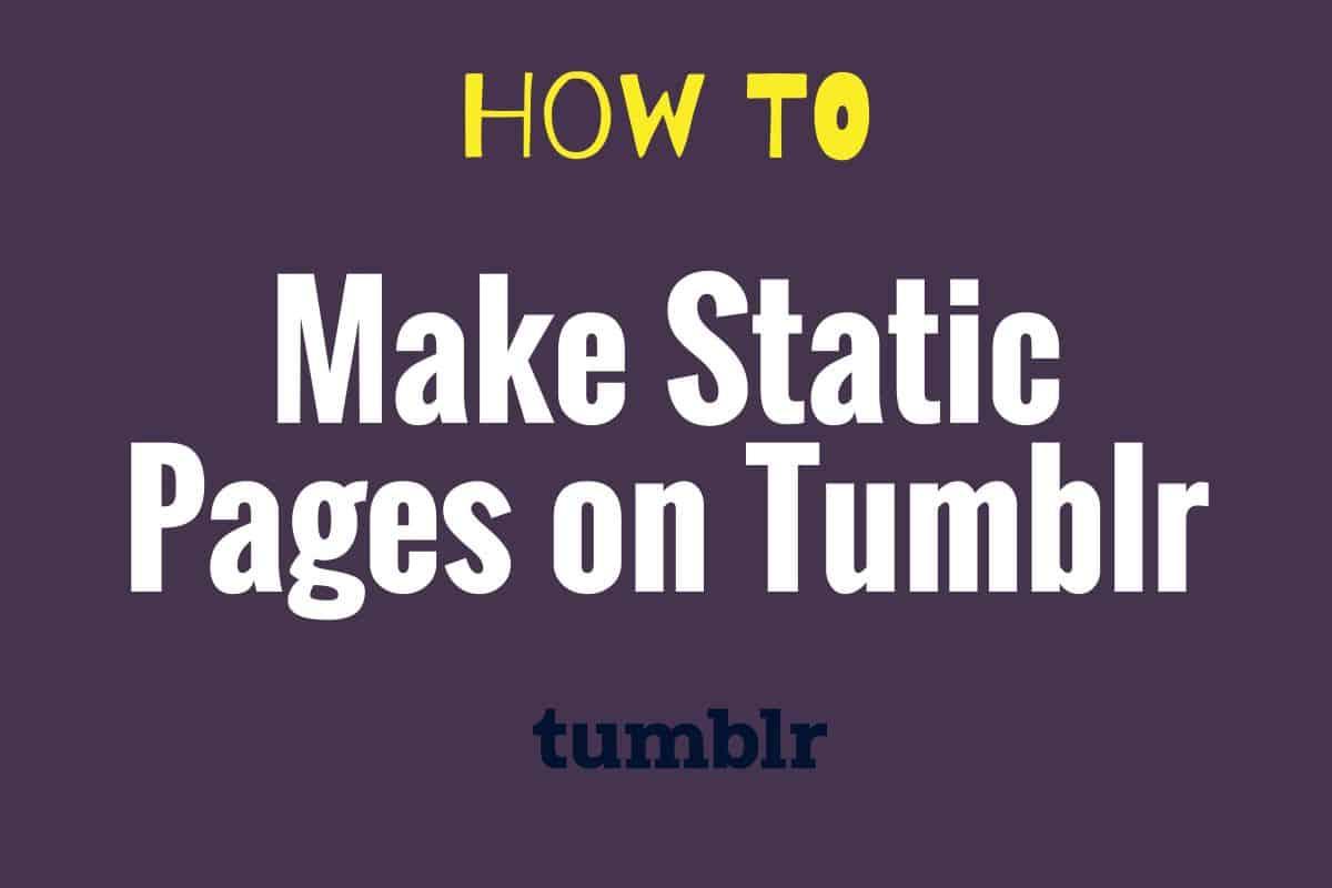 make-static-landing-pages-tumblr