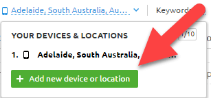 add new device location