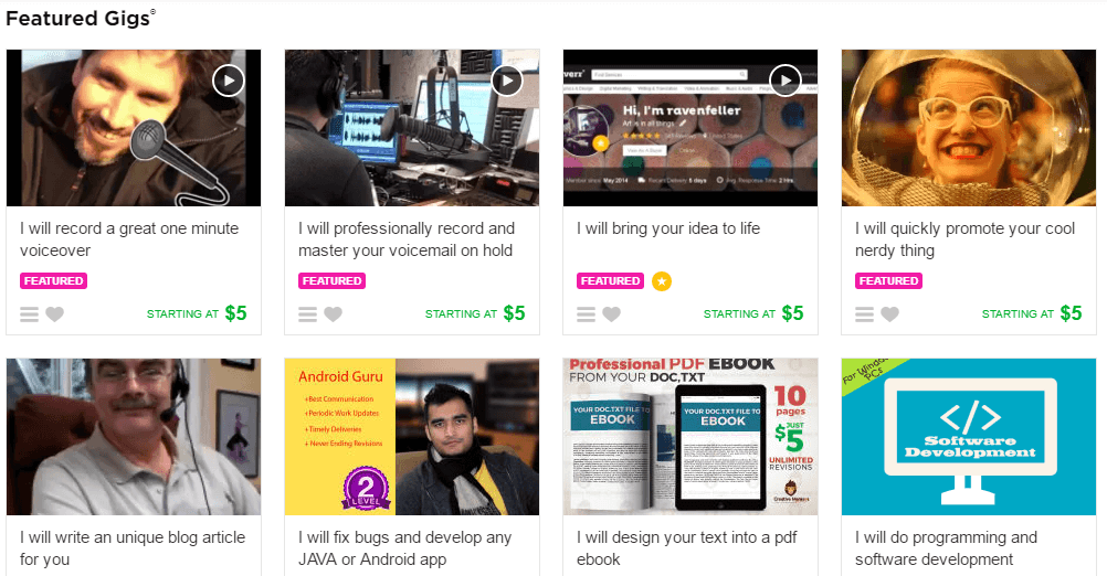 fiverr feature gigs