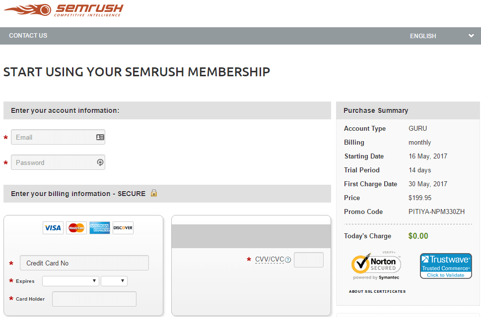 semrush create guru account