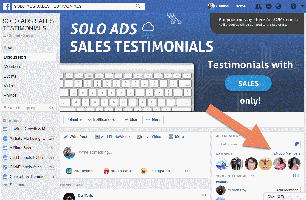 Solo Ads Sales Testimonials Facebook Group