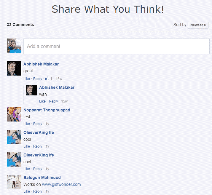 facebook comments plugin style1