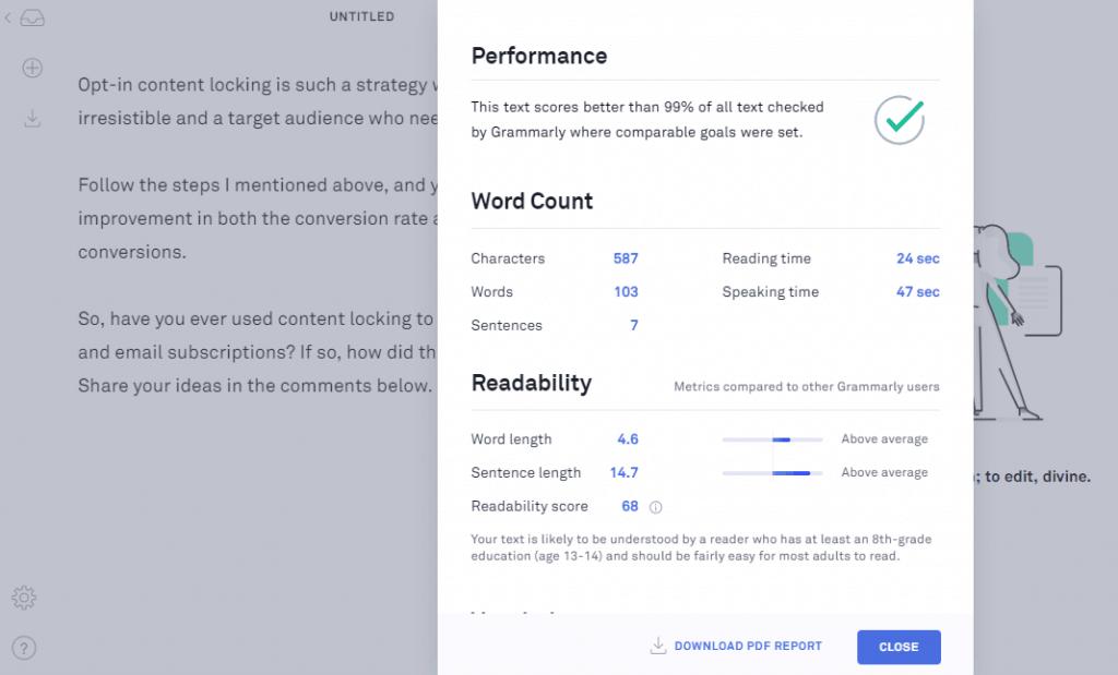 grammarly-performance-report