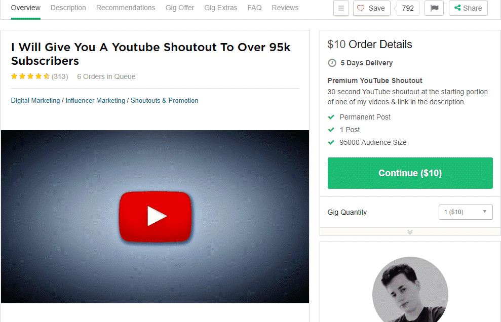youtube-shoutout-fiverr-gig