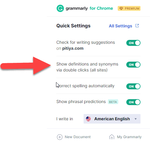 show-definitions-synonyms-grammarly-extension