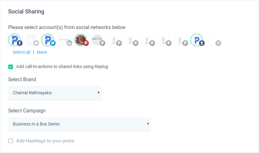 make your post shared on social media