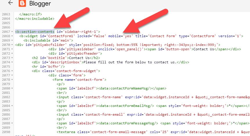 contatct-form-widget-code-blogger