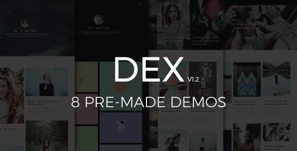 Dex - Modern Blog/Portfolio Blogger Theme