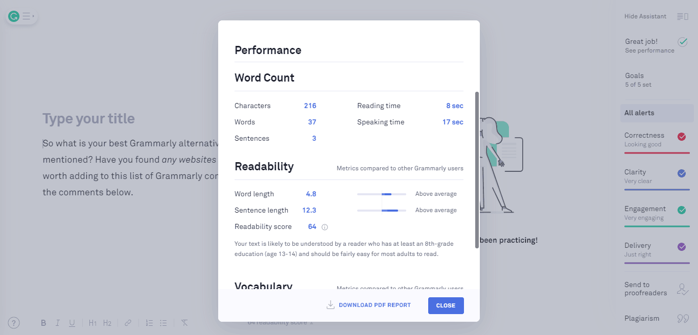 grammarly-writing-assistant-performance-report