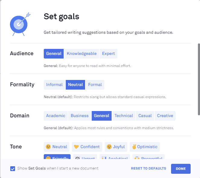 set-goals-grammarly