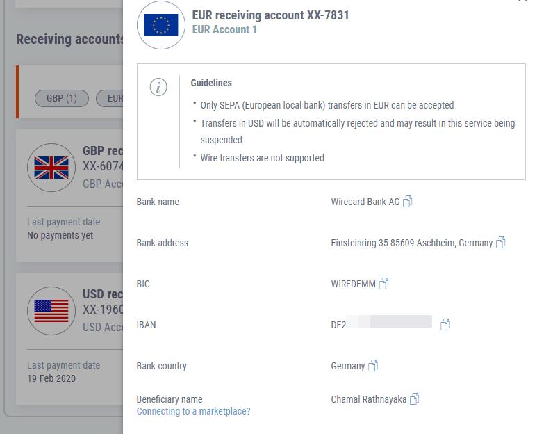 euro-bank-account-details