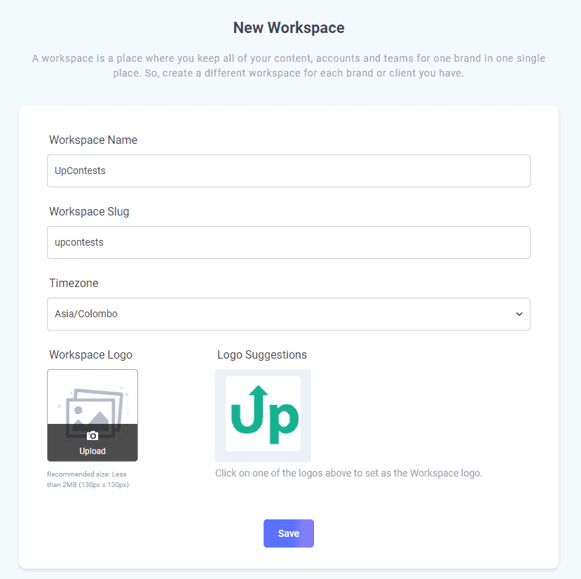 add new workspace for client