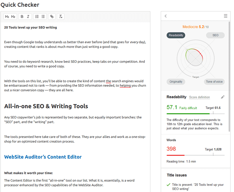 semrush-writing-assistant-quick-checker
