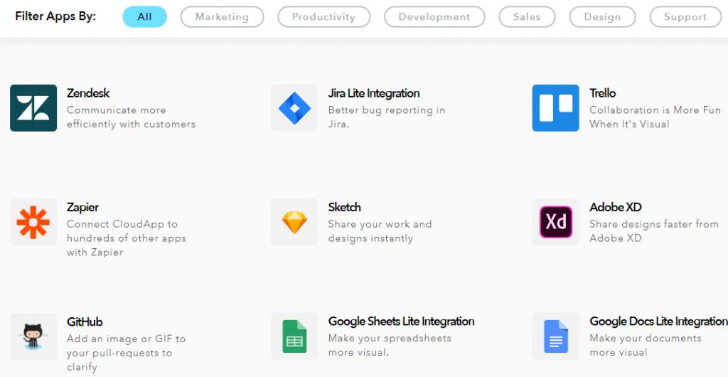 cloudapp integrations