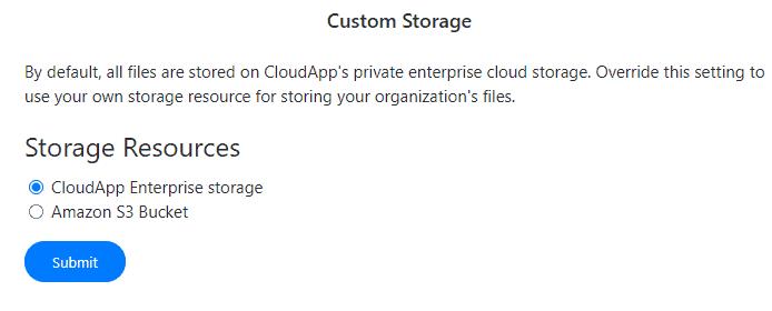 custom storage resources cloudapp