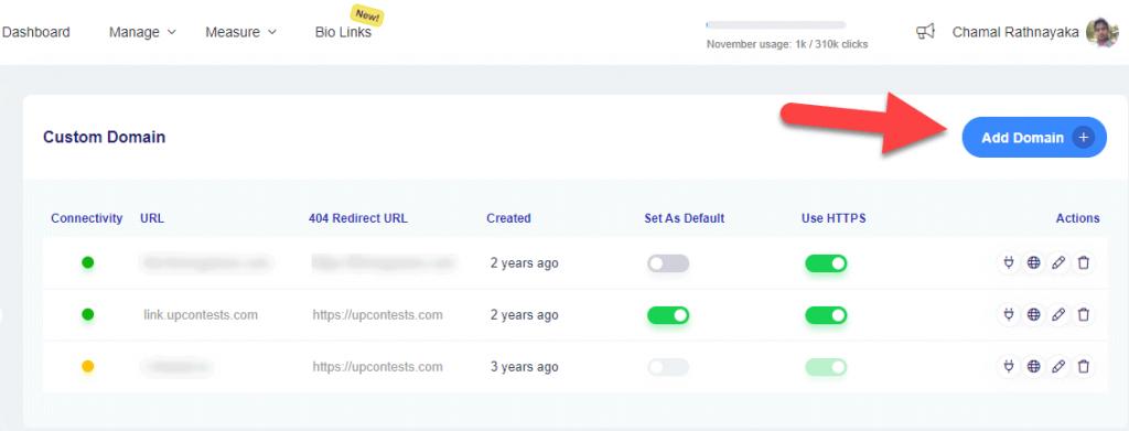 add custom domain to replug