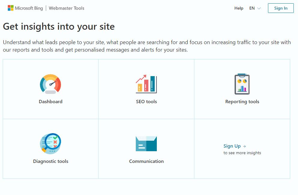 bing-webmaster-tools-homepage