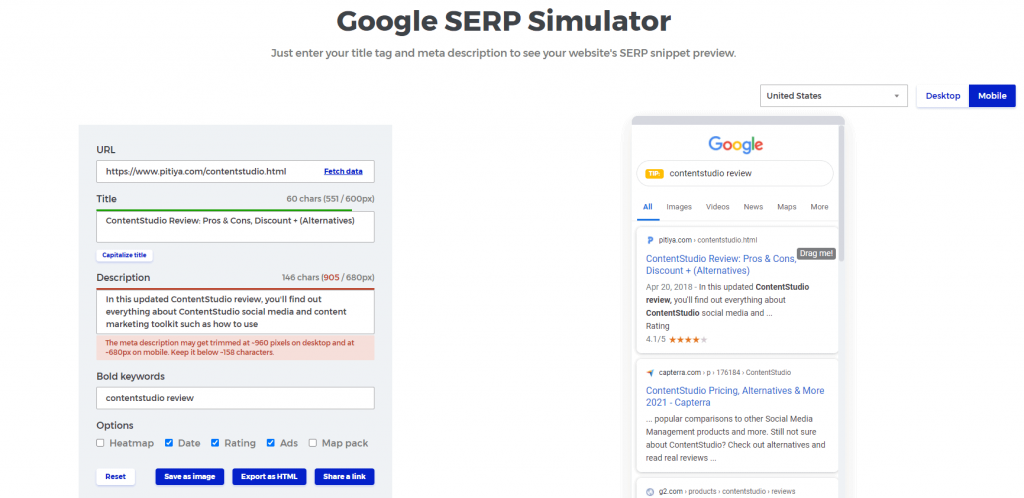 google-serp-simulator