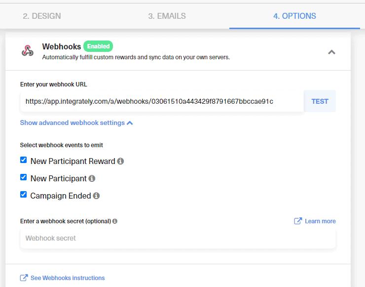 test webhooks