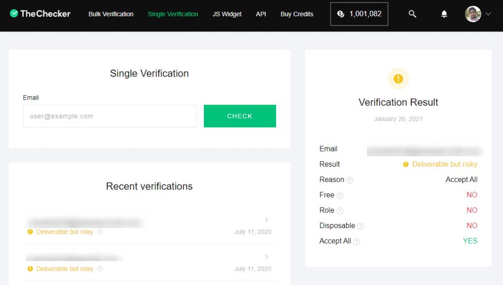 single verification - thechecker.co
