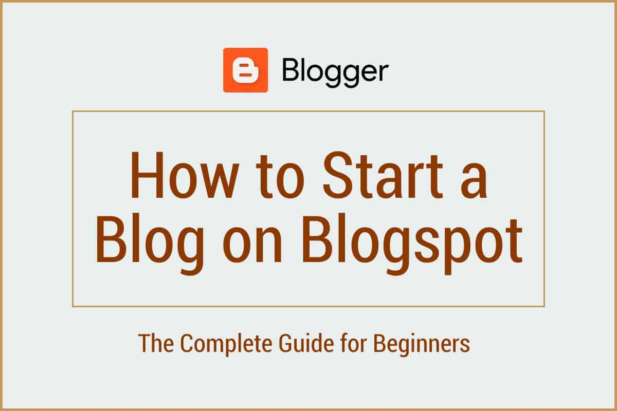 start BlogSpot blog