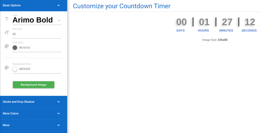 NiftyImages countdown timers for email