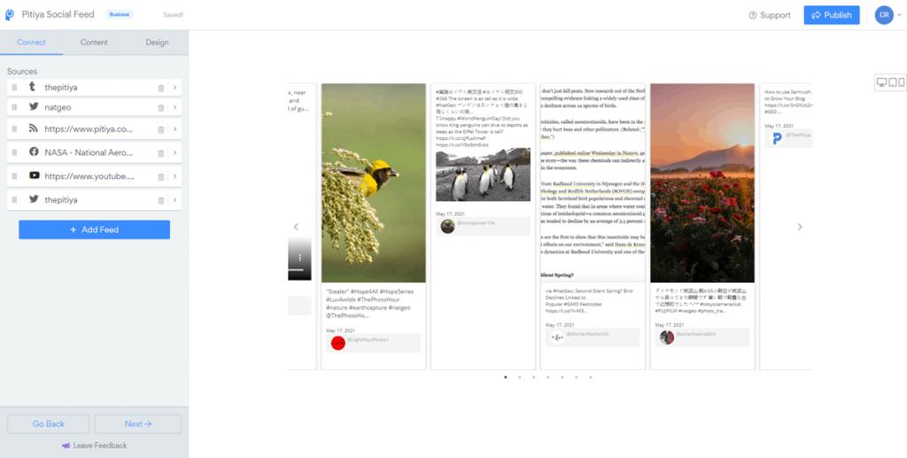 social feed widget for blogger - Powr.io